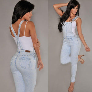 Womens Jumpsuits Hot Strap Trousers Bib Pants Long Pants Denim Jeansmodkily-modkily