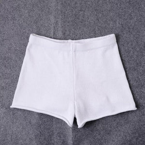 Fashion Knitting High Waist Shorts Women 2017 Summer Multi-color Europe America Packmodkily-modkily