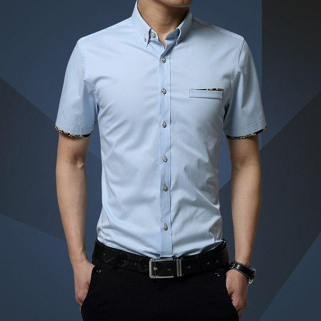2018 New Brand Men Shirts Brand Turn-down Collar Slim Fit Men Chemisemodkily-modkily