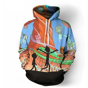 Plus Size Comic Hoodies Ricky And Morty Hoodies Men Women Anime Sweatshirtsmodkily-modkily