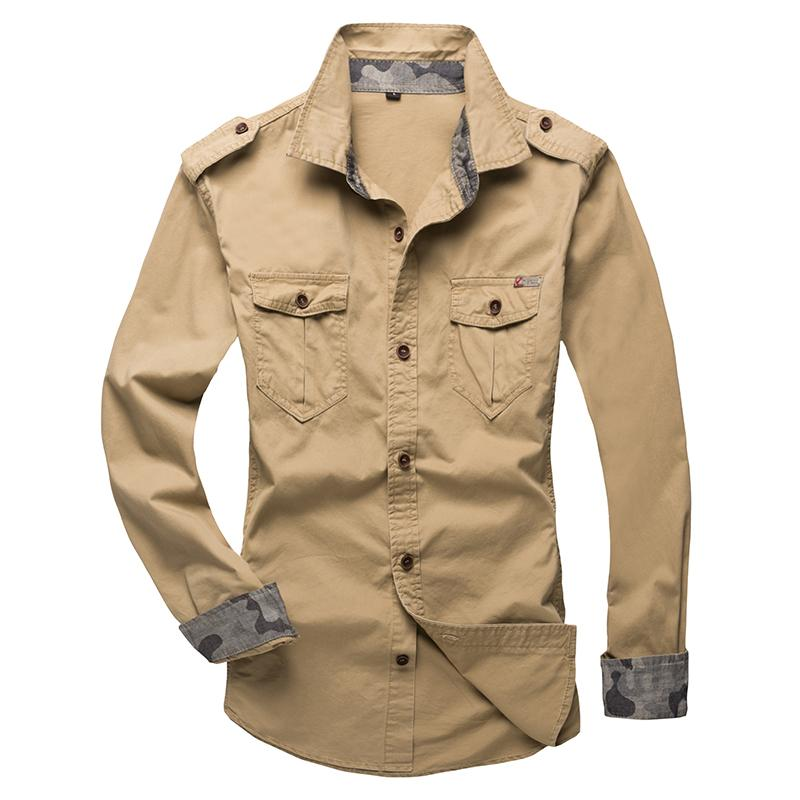 2018 New Men Tactics Brand Shirt Tooling Military Style Camisa Social Fashionmodkily-modkily
