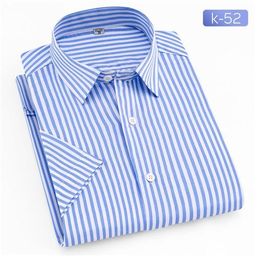 2018 Summer Branded Men Casual Shirts New Turn Down Collar Mans Shortmodkily-modkily
