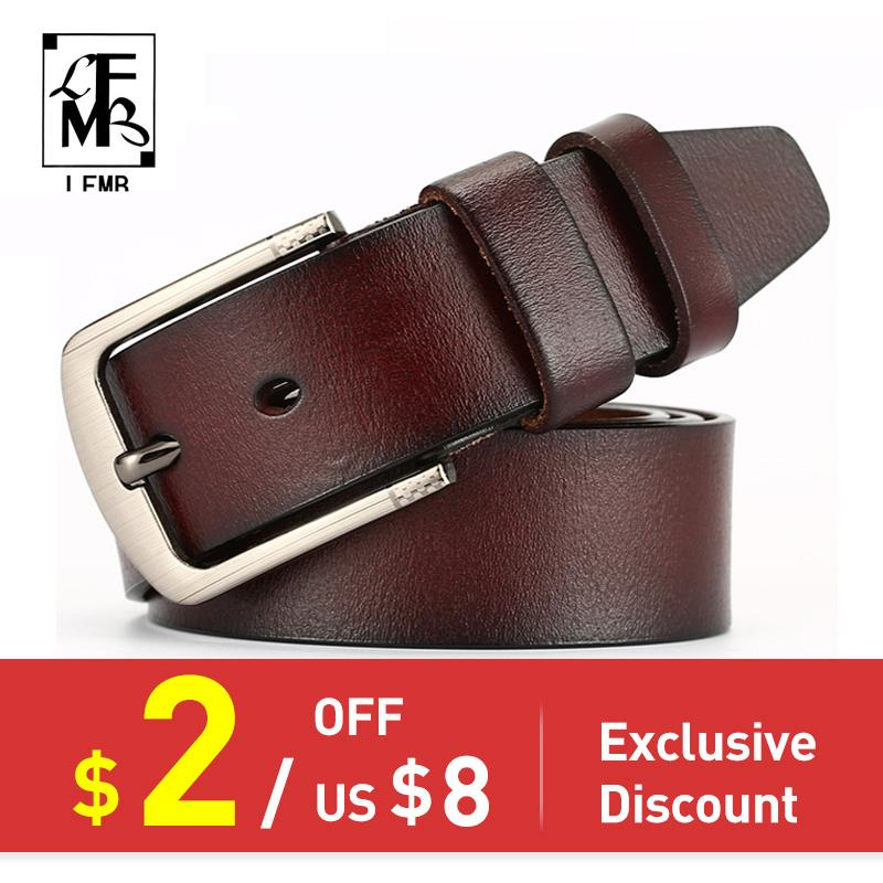 []leather belt men male genuine leather strap pin buckle fancy vintage jeansmodkily-modkily