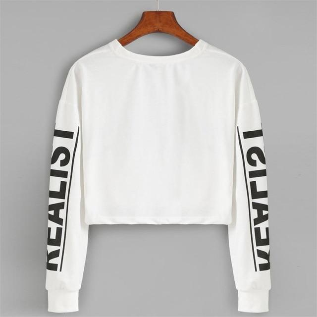 2018 Women's Sweatshirt Hoodies Pullover Letter REAL O Neck Long Sleevemodkily-modkily