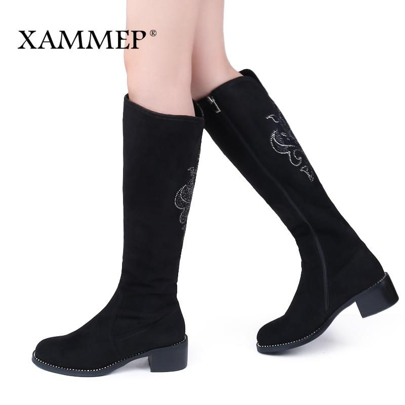 Women's Winter Shoes Knee High Boots Plus Big Size High Quality Fauxmodkily-modkily