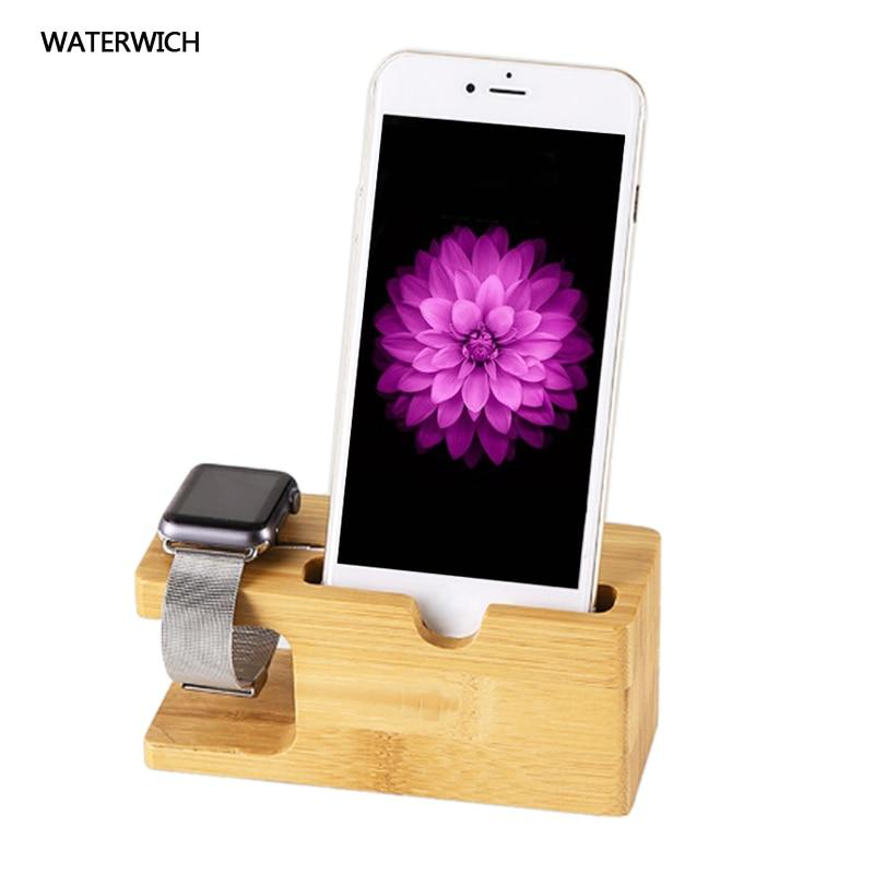 100% Natural Bamboo Charging Dock Station Bracket Cradle Stand Phone Holder Formodkily-modkily