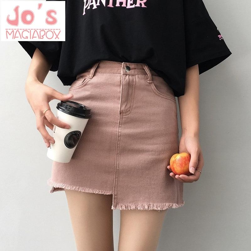 SK07 2018 Summer Skirts Women High Waist Mini Linen Skirts A-linel Skirtsmodkily-modkily