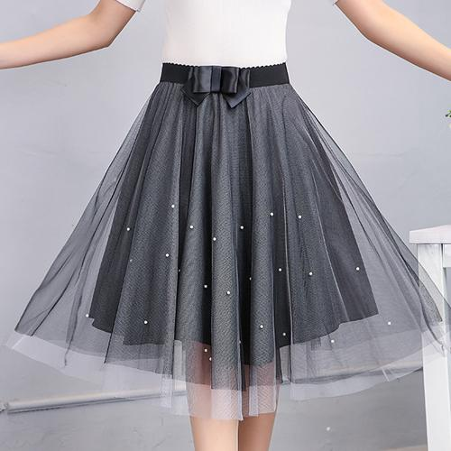 Gogoyouth Adult Tulle Skirt Women 2018 Summer New Midi Knee Length Koreanmodkily-modkily