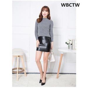 High Waist Summer Black Short Women's Club Wear Sexy Mini Skirts Solidmodkily-modkily