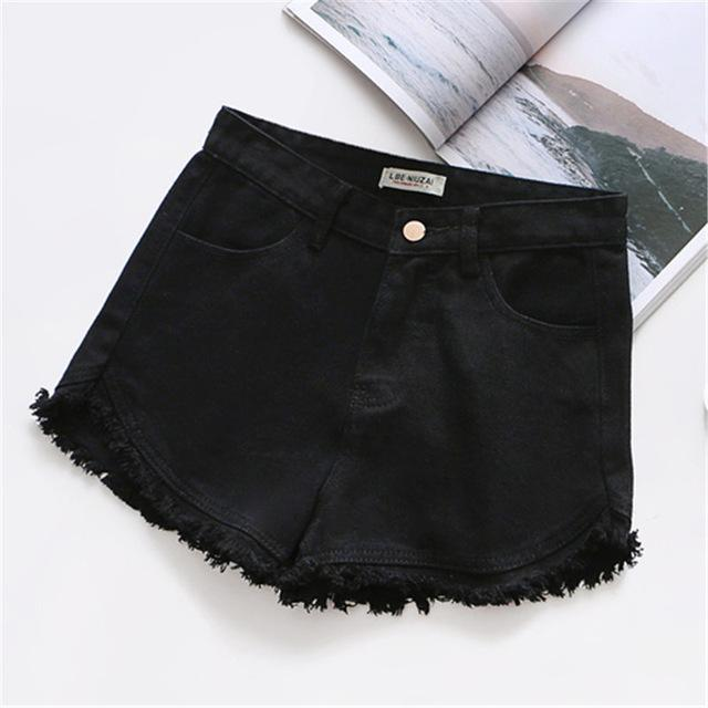 7 Colors Tassel 2018 Denim Shorts Women Short Jeans For Womenmodkily-modkily