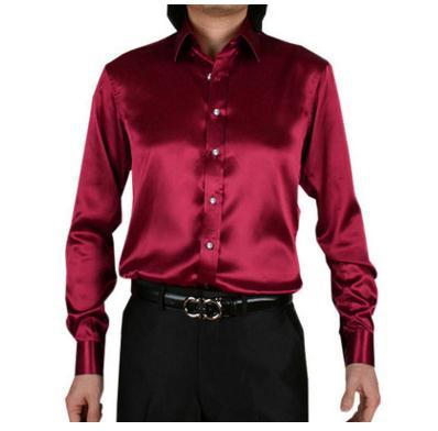 2018 long sleeve autumn spring thin fashion loose casual silk men dressmodkily-modkily