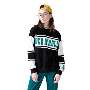 Women Sweatshirts Casual Letters Print Pullover Hoodies 2018 Spring Contrast Colormodkily-modkily