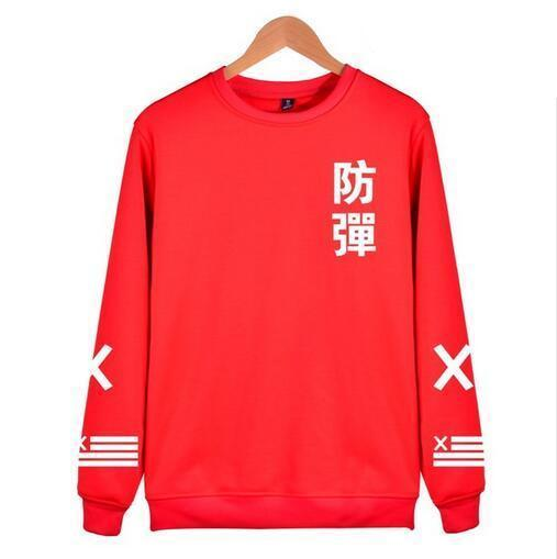 2018 BTS Kpop Harajuku Hoodies men Black Cotton Fashion Hip Hop Coatmodkily-modkily