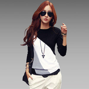 2018 Autumn Fashion Cotton Blouse Women Shirts Blouses Casual O Neck Longmodkily-modkily