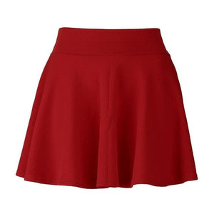 Unique High Waist Stretch Women Mini Pleated Skirts Casual Cotton Flared Pleatedmodkily-modkily