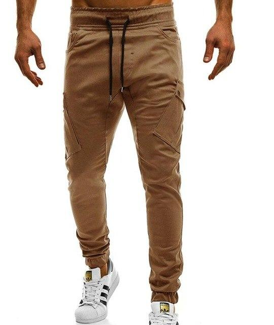 2018 Hot New Men's Pants Fashion Brand Slim Solid Color Elasticity Menmodkily-modkily