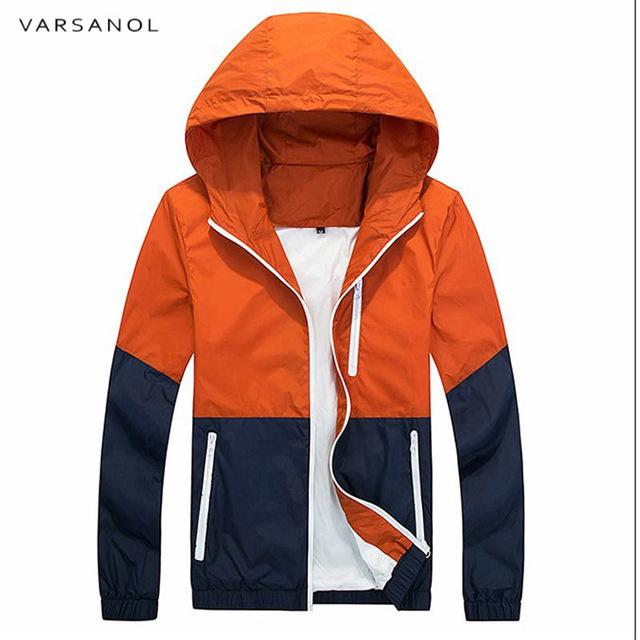 Varsanol Spring Jacket Men Windbreaker 2018 Autumn Fashion Jacket Men's Hooded Casualmodkily-modkily