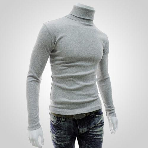 Fashion New Men Slim Warm High Neck Pullover Jumper Sweater Casual Topsmodkily-modkily