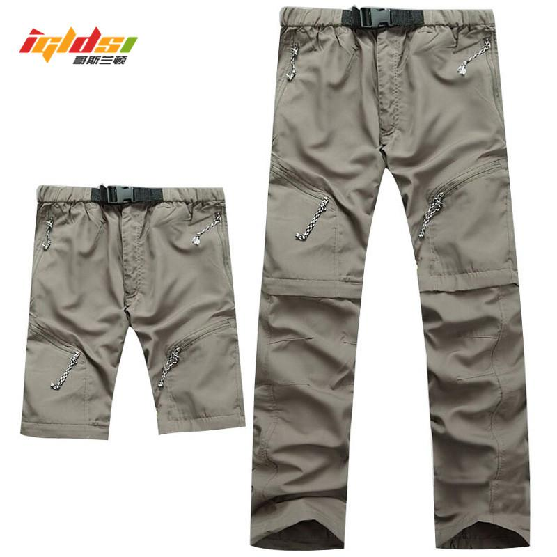 Detachable Quick Dry Men Pants 2018 Summer Waterproof Military Active Multifunction Trousersmodkily-modkily