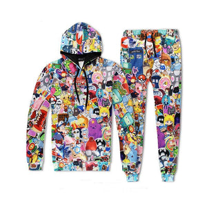 2017 Newest Superior quality Men/Women Hoodies Cartoon Adventure Time 3d printmodkily-modkily