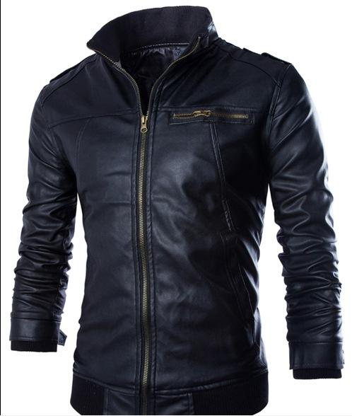 Newest Motorcycle Leather Jackets Men Solid Business Casual Coats Autumn Winter Leathermodkily-modkily