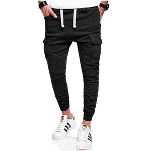 Men's joggers 2018 Male Brand Trousers Men Khaki Long Pants Fold Sweatpantsmodkily-modkily