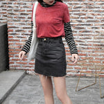 Summer Fashion High Waist Skirts Womens Pockets Button Denim Skirt Female 2018modkily-modkily