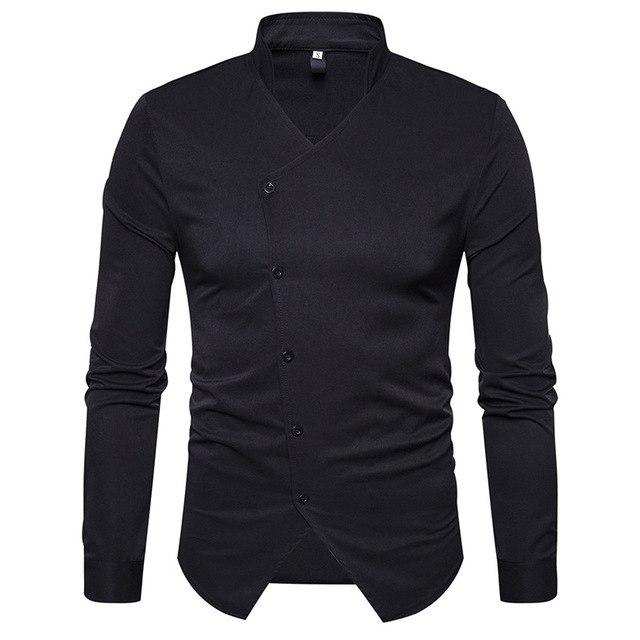 Drop Shipping The new European Code V deep small collar long sleevedmodkily-modkily