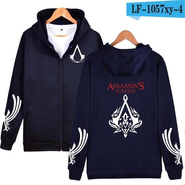 2018 Assassins Creed print Hoodie sweatshirt Cosplay pullover tracksuit Assassins Creed zippermodkily-modkily