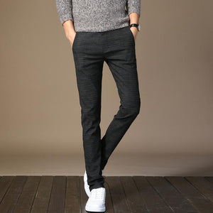 men's pants 2018 Man cotton linen Slim Business affairs fashion trousersmodkily-modkily