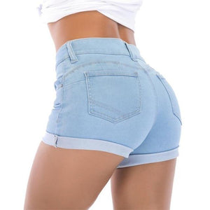 Summer Women Skinny Shorts Sexy Lady Fashion Casual Solid Slim Pink Shortmodkily-modkily
