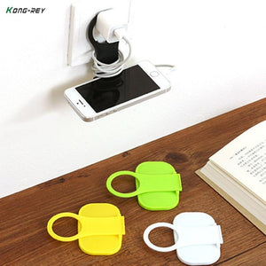 Folding Mobile Phone Wall Charger Adapter Charging Holder Hanging Stand Bracket Supportmodkily-modkily