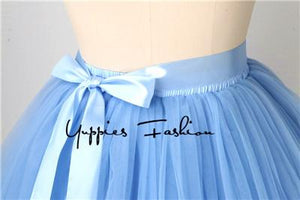 Quality 7 Layers 50cm Long Tulle Skirts Womens Adult Tutu Skirt Bridesmaidsmodkily-modkily