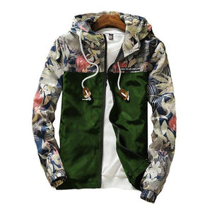 New 2018 Floral Bomber Jacket Men Hip Hop Flowers Designs Slimmodkily-modkily