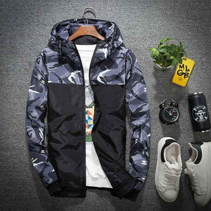 Wholesale Price Windbreaker Zipper Outwear Hooded Brand Clothing Men Bomber Jacket Thinmodkily-modkily