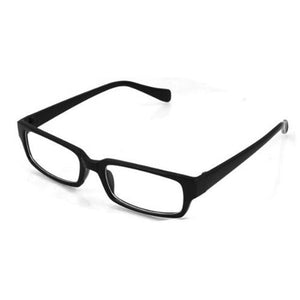 Black Rectangle Plastic Frame Clear Lens Glassesmodkily-modkily