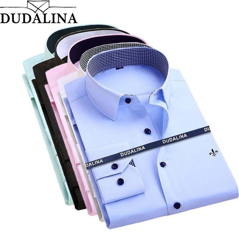 Dudalina Camisa Male Shirts Long Sleeve Men Shirt Brand Clothing Smart Casualmodkily-modkily
