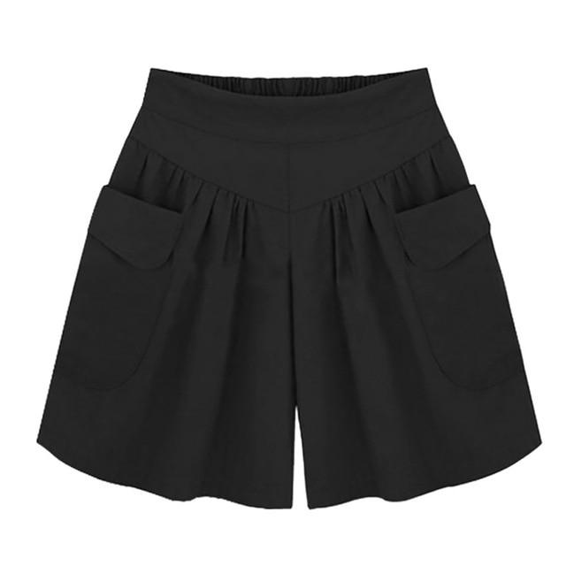 2018 Summer Shorts For Women Plus Size 5XL Wide Leg Female Shortsmodkily-modkily