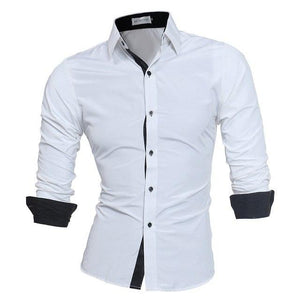 Men Shirt Brand 2018 Male High Quality Long Sleeve Shirts Casual Slimmodkily-modkily