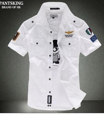 2018 New Short Sleeve Shirts Fashion Airforce Uniform Military Short Sleeve Shirtsmodkily-modkily