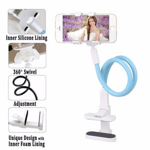 Flexible Long Arms for Cell Phone Clip Holder Stand with Sitck-On Carmodkily-modkily