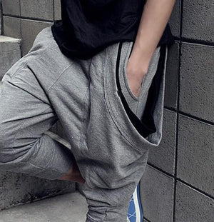 Hip Hop dance baggy pants, cropped pants,mens harem pants,low drop crotch Pants,sweatpantsmodkily-modkily