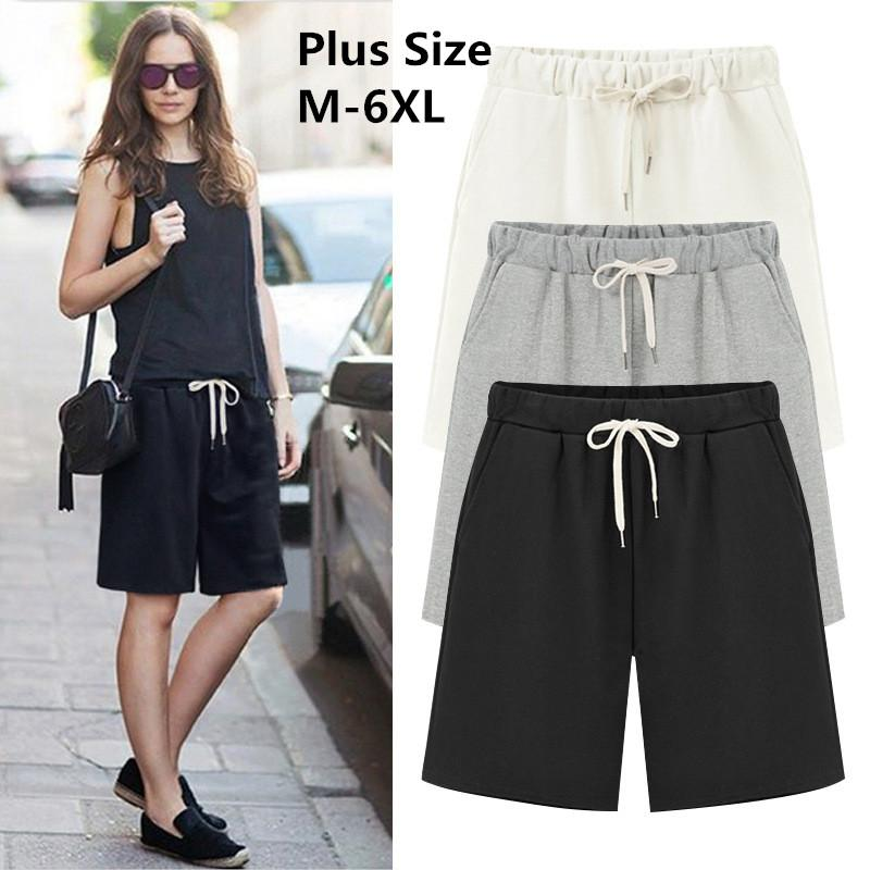 Summer Cotton Casual women shorts Plus Size Loose womens shorts Female Solidmodkily-modkily