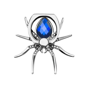 KEYSION Universal Luxury metal Spider Bling Finger Ring Holder 360 Rotate Phonemodkily-modkily