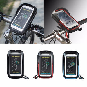 6 inch Bike Bicycle Waterproof Cell Phone Bag Holder Motorcycle Mount formodkily-modkily