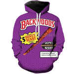 Drop shipping Funny Foods Backwoods Honey Berry 3D Print Fashion Hoodiesmodkily-modkily