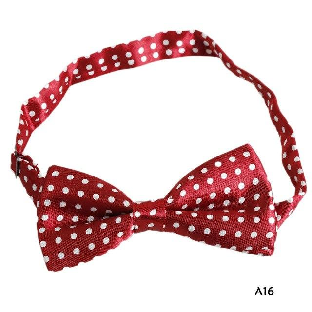 2018 New 12 types Men's women's Polyester Silk Bow Tie Striped/Leopard/Plaid modkily-modkily