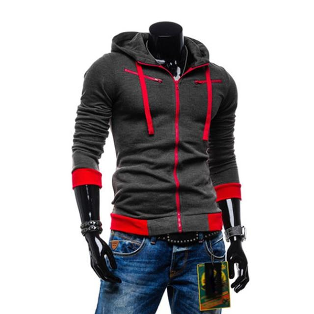 2018 Autumn Man Hoodie Sweatshirt Cardigan Men Casual Zipper Sweatshirt Slim Hoodymodkily-modkily