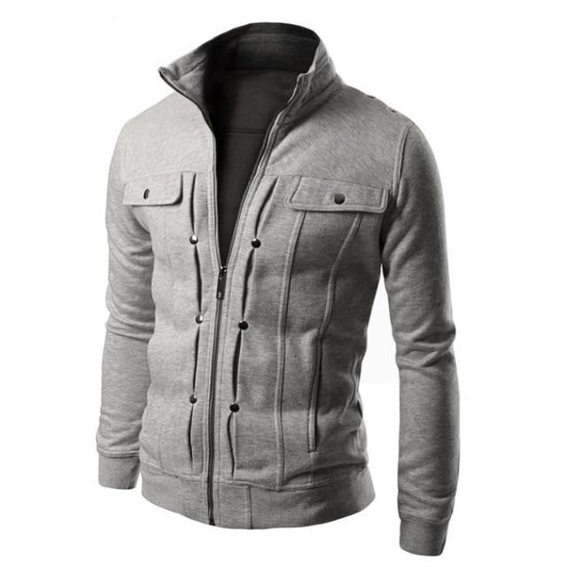 2018 Casual Men Hoodie Sweatshirt Button Cardigan Brand Black Men Sweatshirt Jacketmodkily-modkily