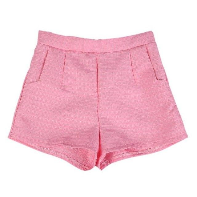 2018 Korean Casual Women Shorts Crochet shorts Europe Plaid shorts high-waisted shortsmodkily-modkily